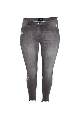 House of Bilocca Low-waist jeans in versleten look
