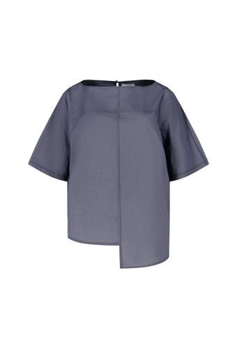 House of Bilocca Casual chique t-shirt met hoog-lage zoomlijn