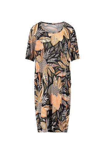 House of Bilocca Stretchy jurk met bladerprint