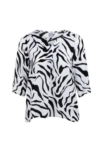 House of Bilocca Luchtige blouse met driekwartmouwen